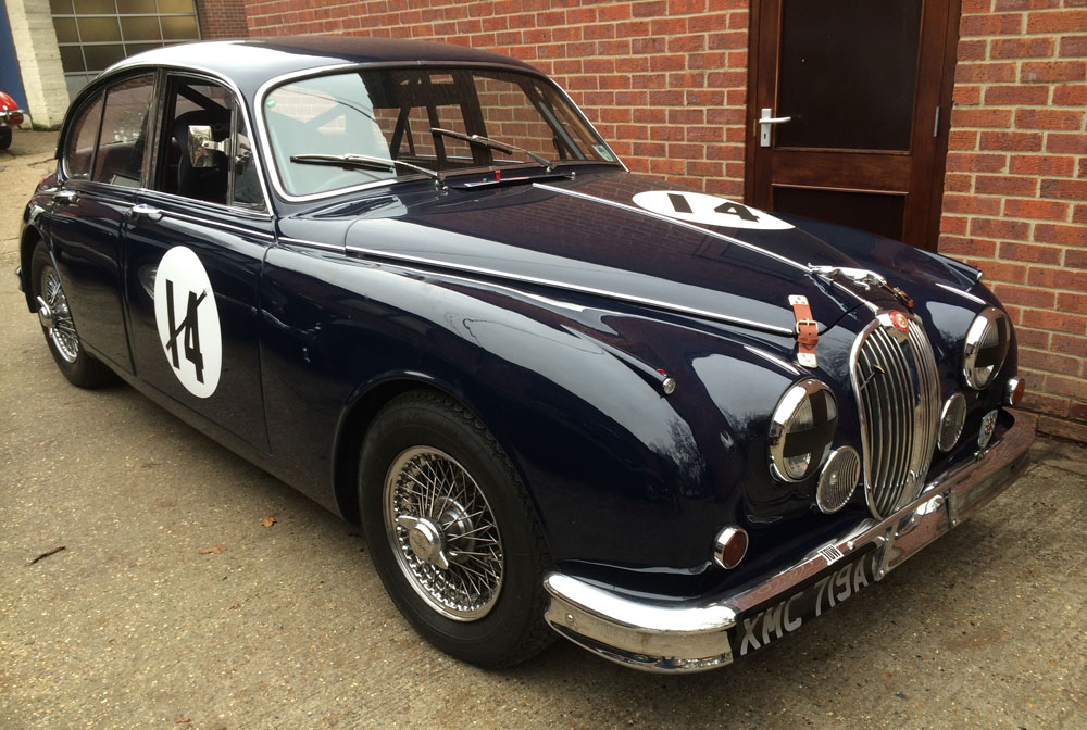 Classic Jaguar racing car