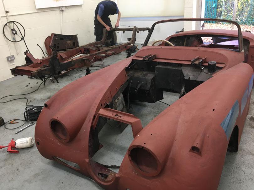 Classic Jaguar restoration Surrey