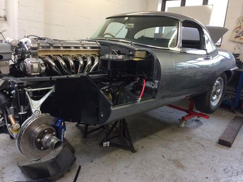 E-Type Jaguar engine upgrade